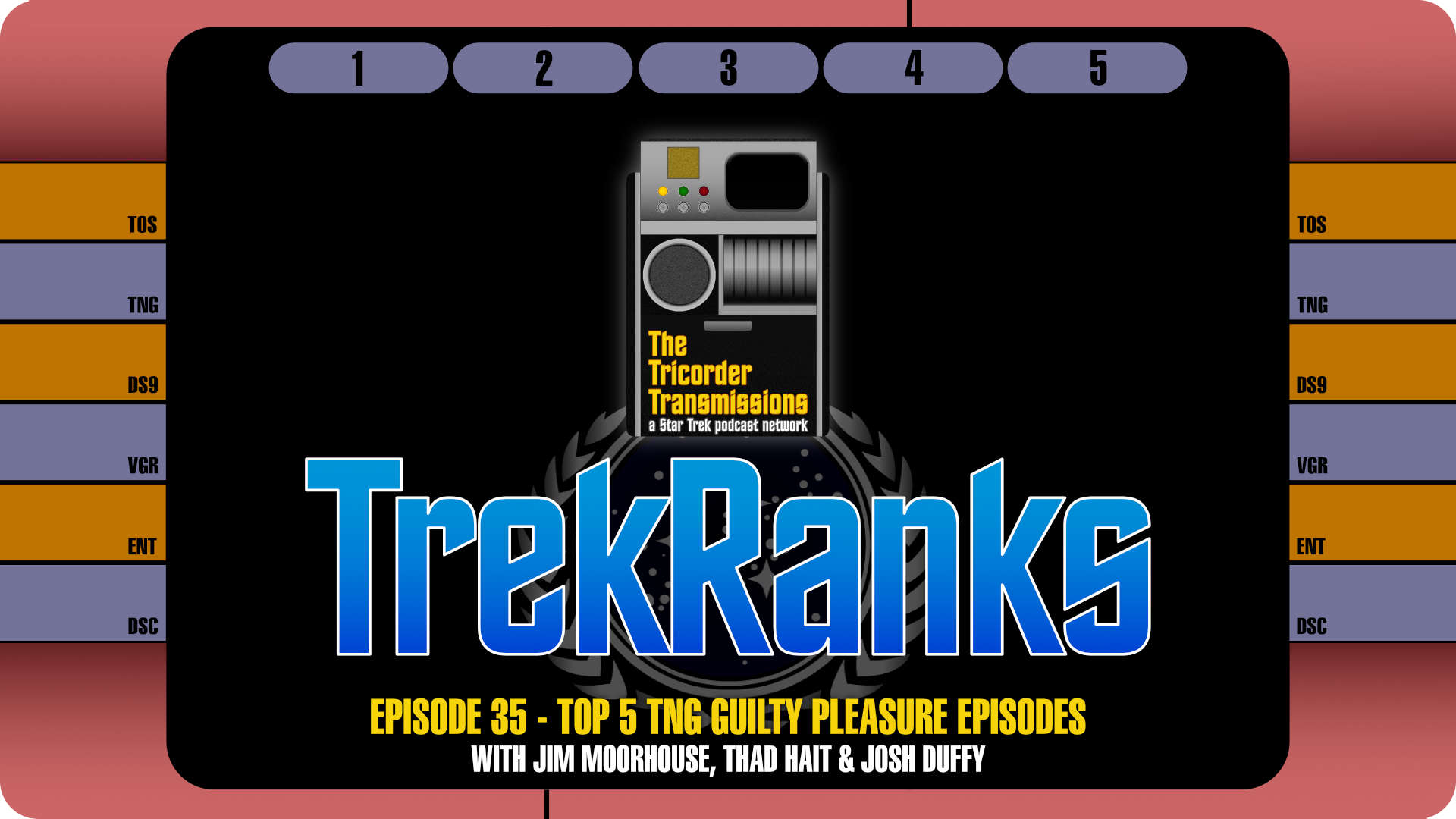 The Tricorder Transmissions Episode 35trekranks Episode 35 Top 5